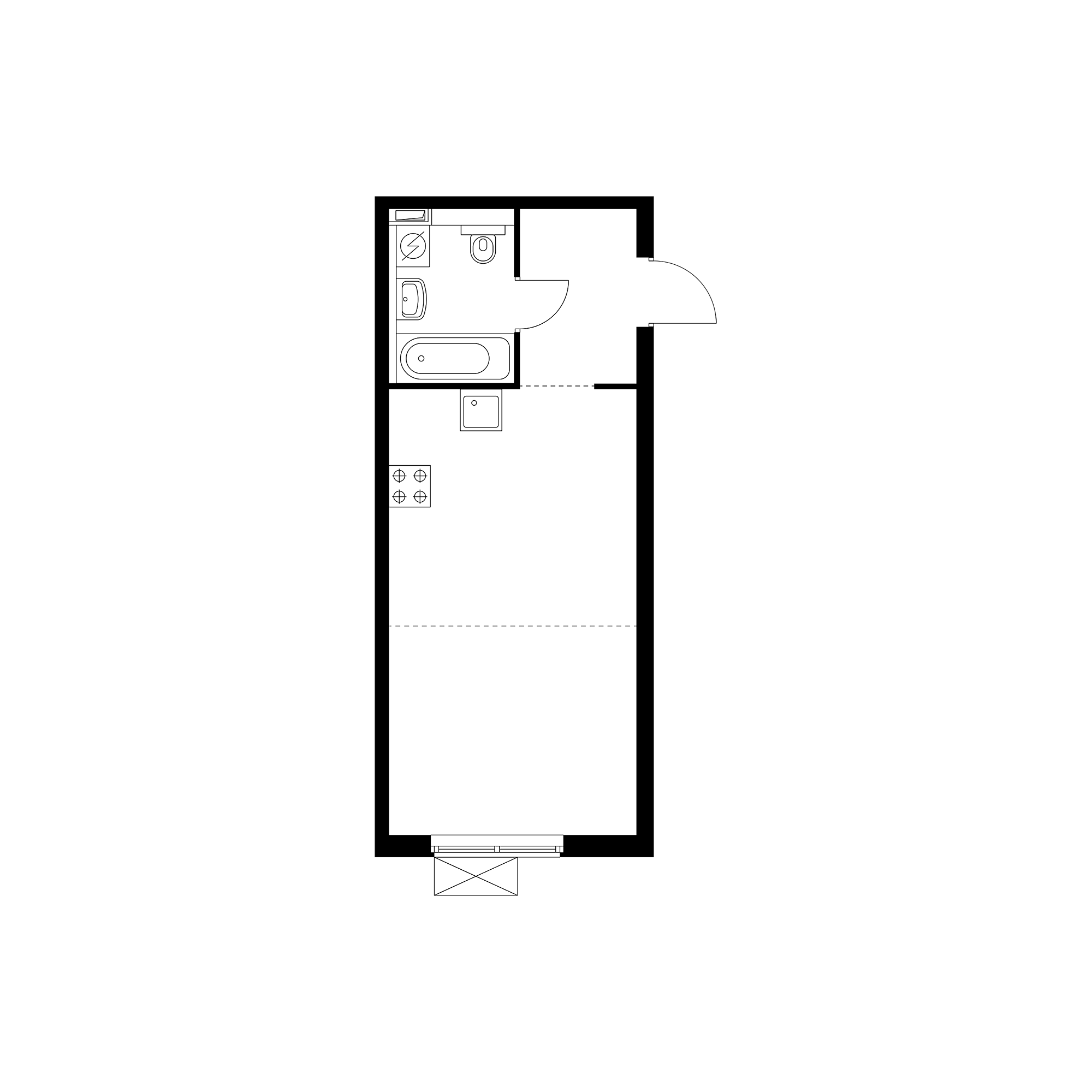 Студия 31.01  м²