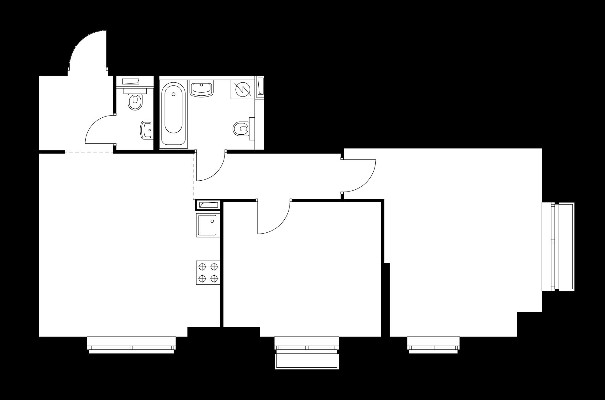 2-комнатная 63.9 м²