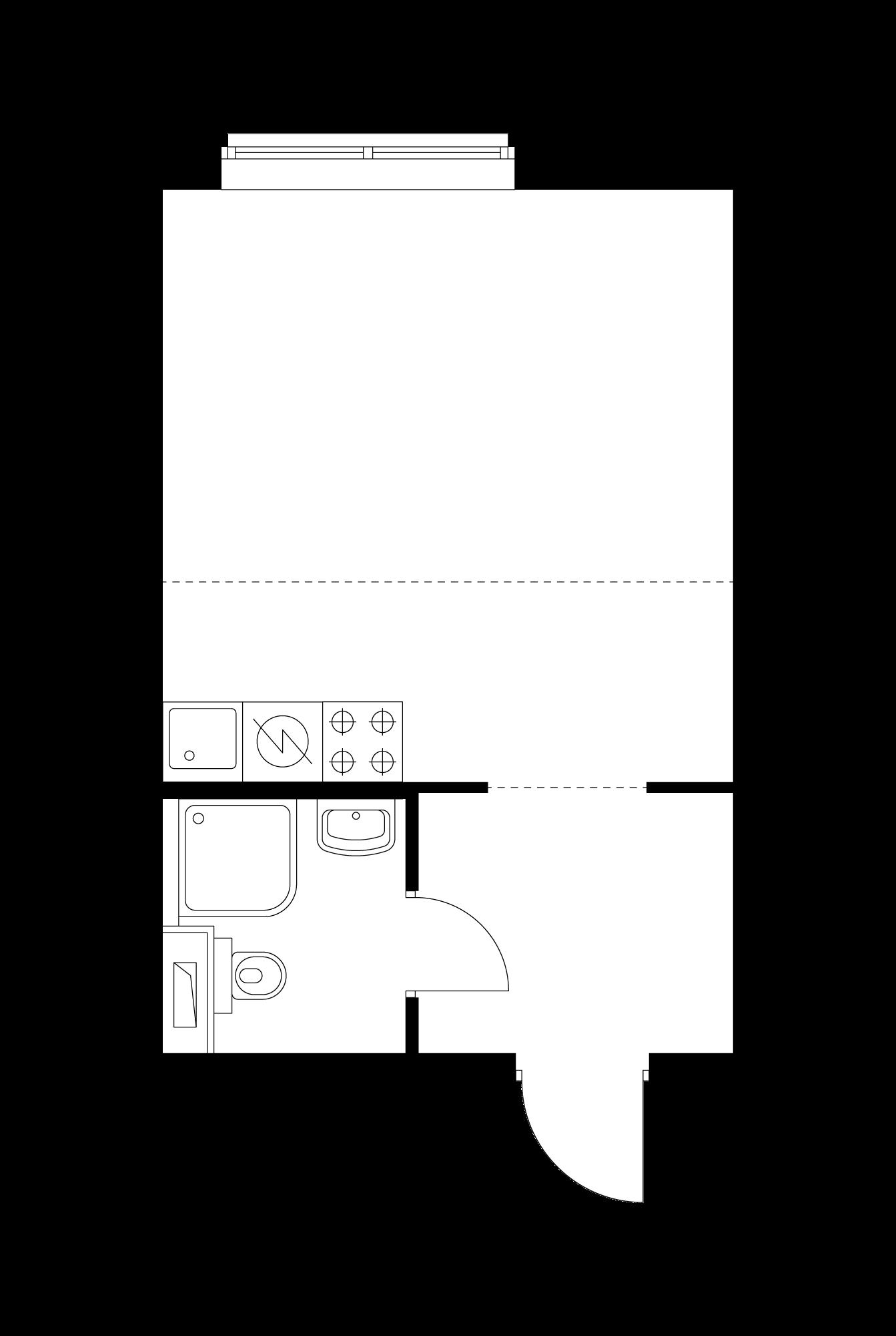 Студия 26.4  м²