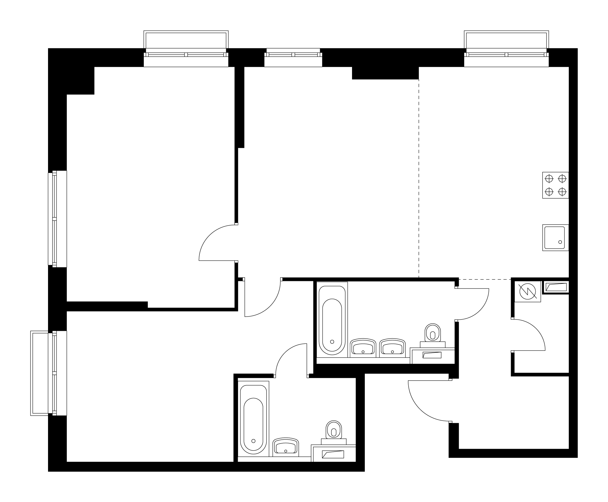 3-комнатная 88.4  м²