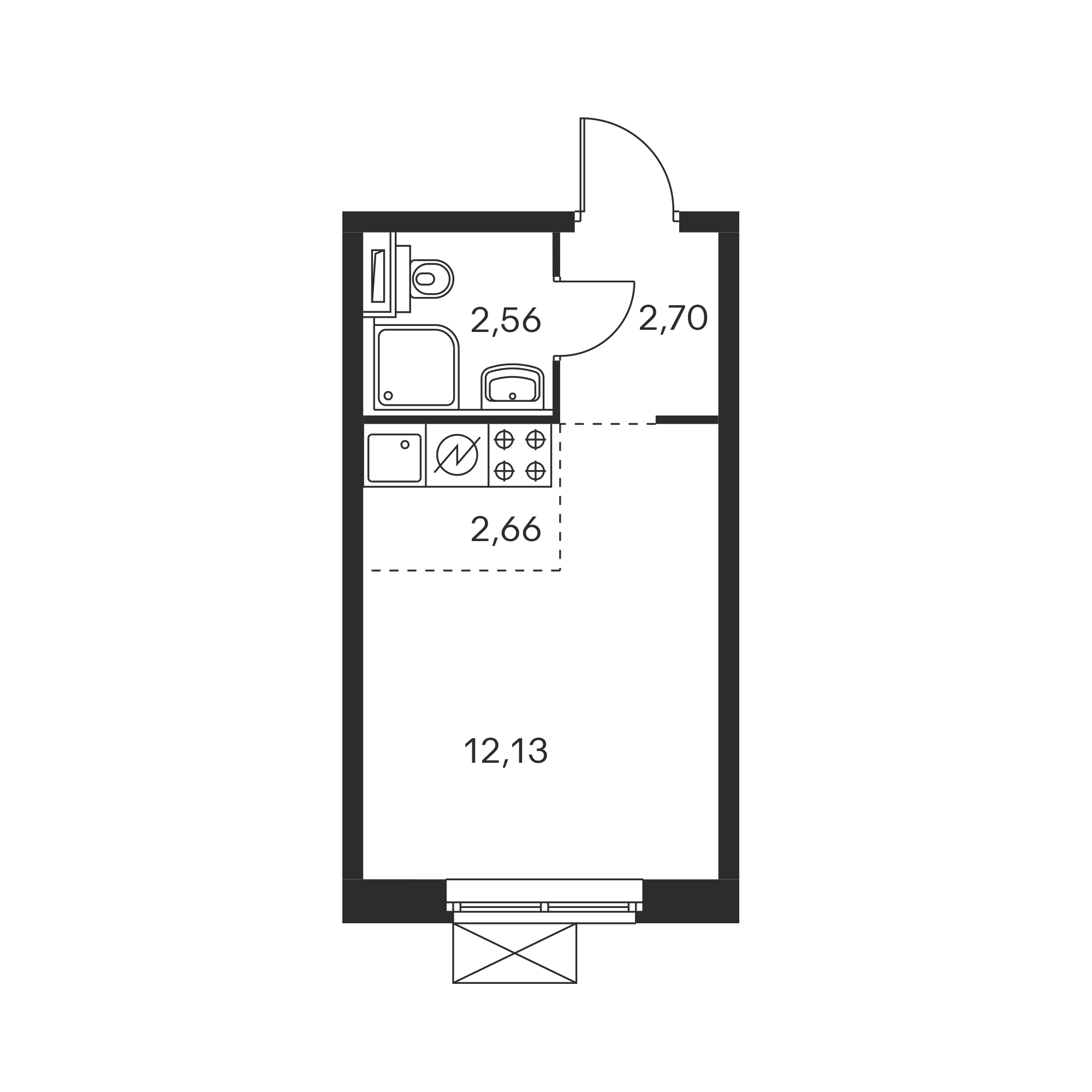 Студия 20.21  м²