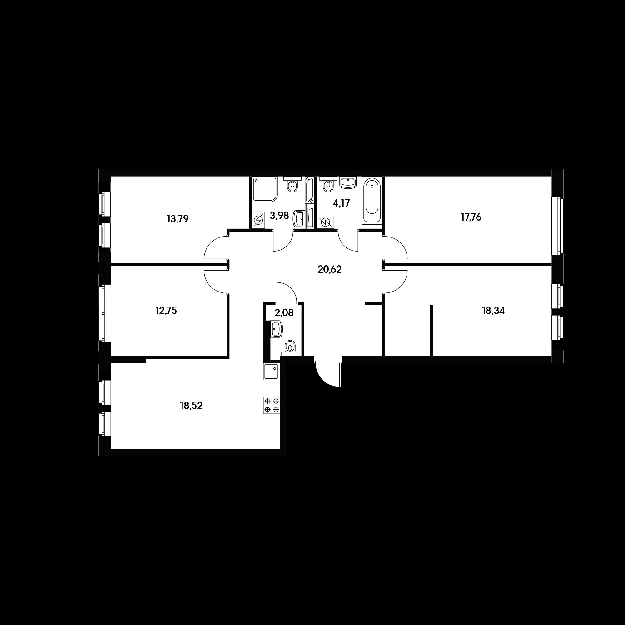 4-комнатная 112.01 м²