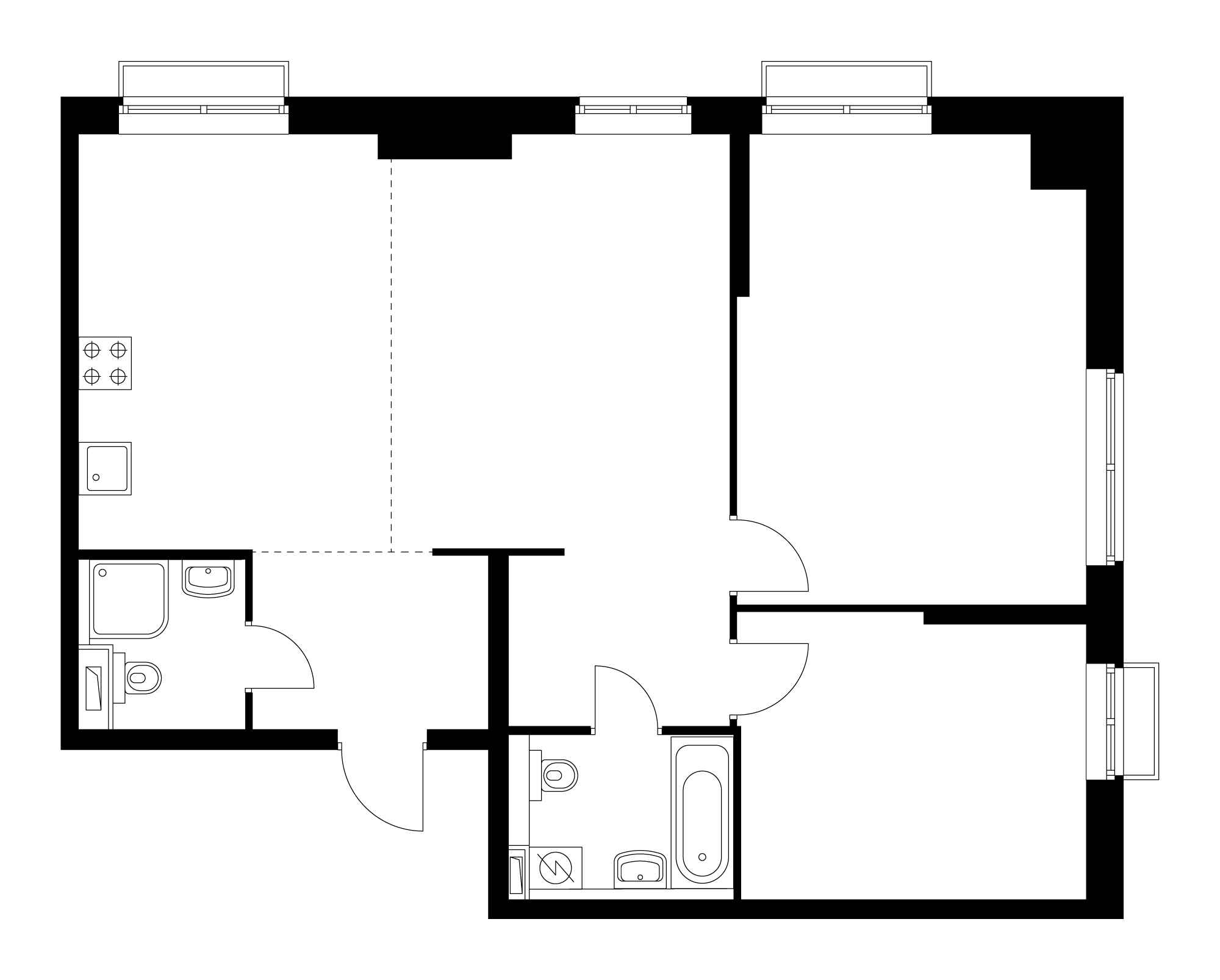 3-комнатная 82.6 м²