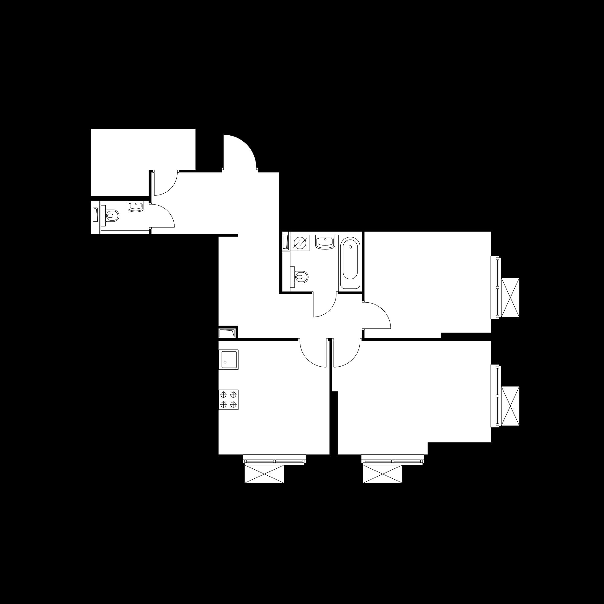 2-комнатная 67.16  м²