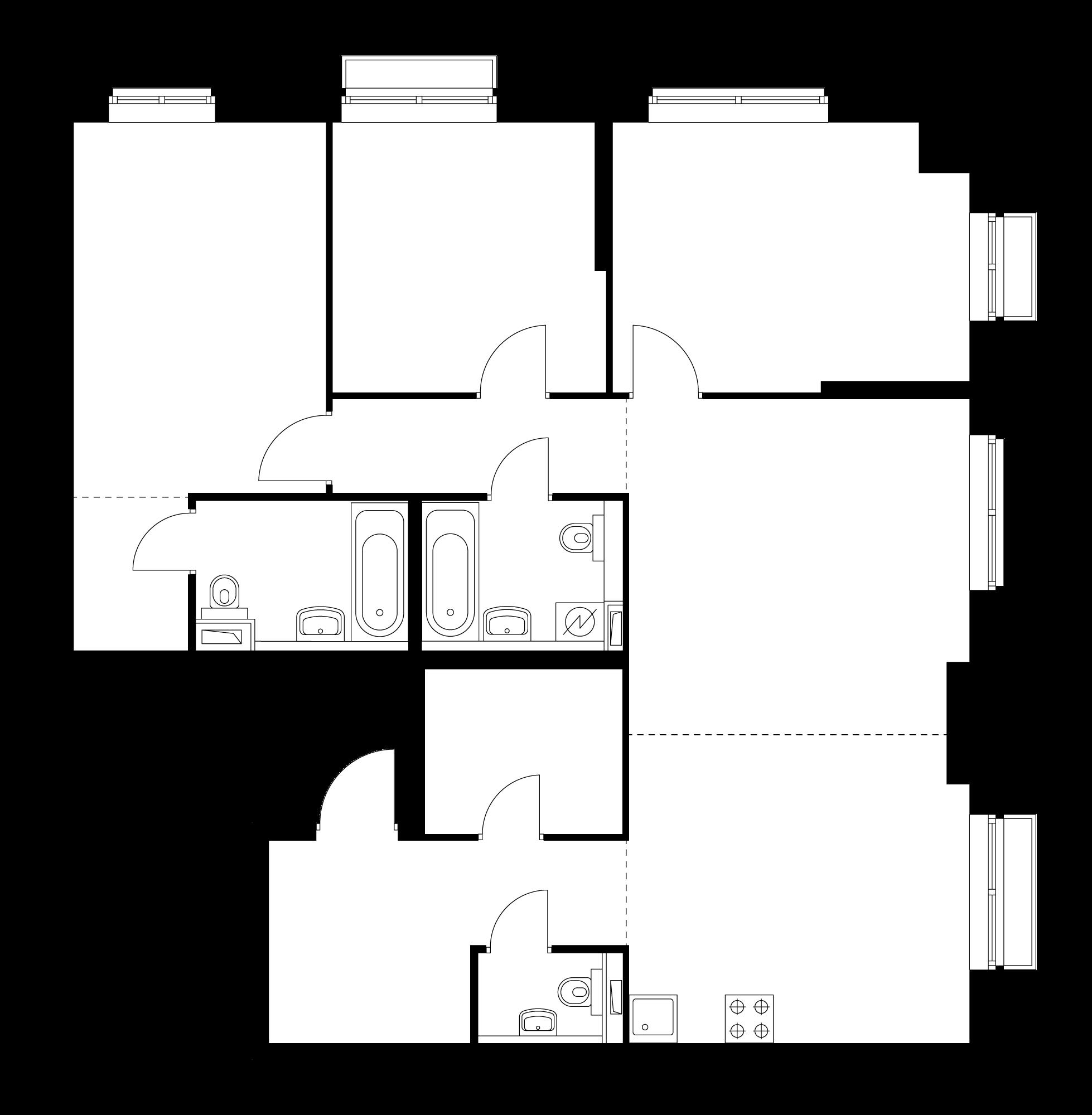 4-комнатная 102.3  м²