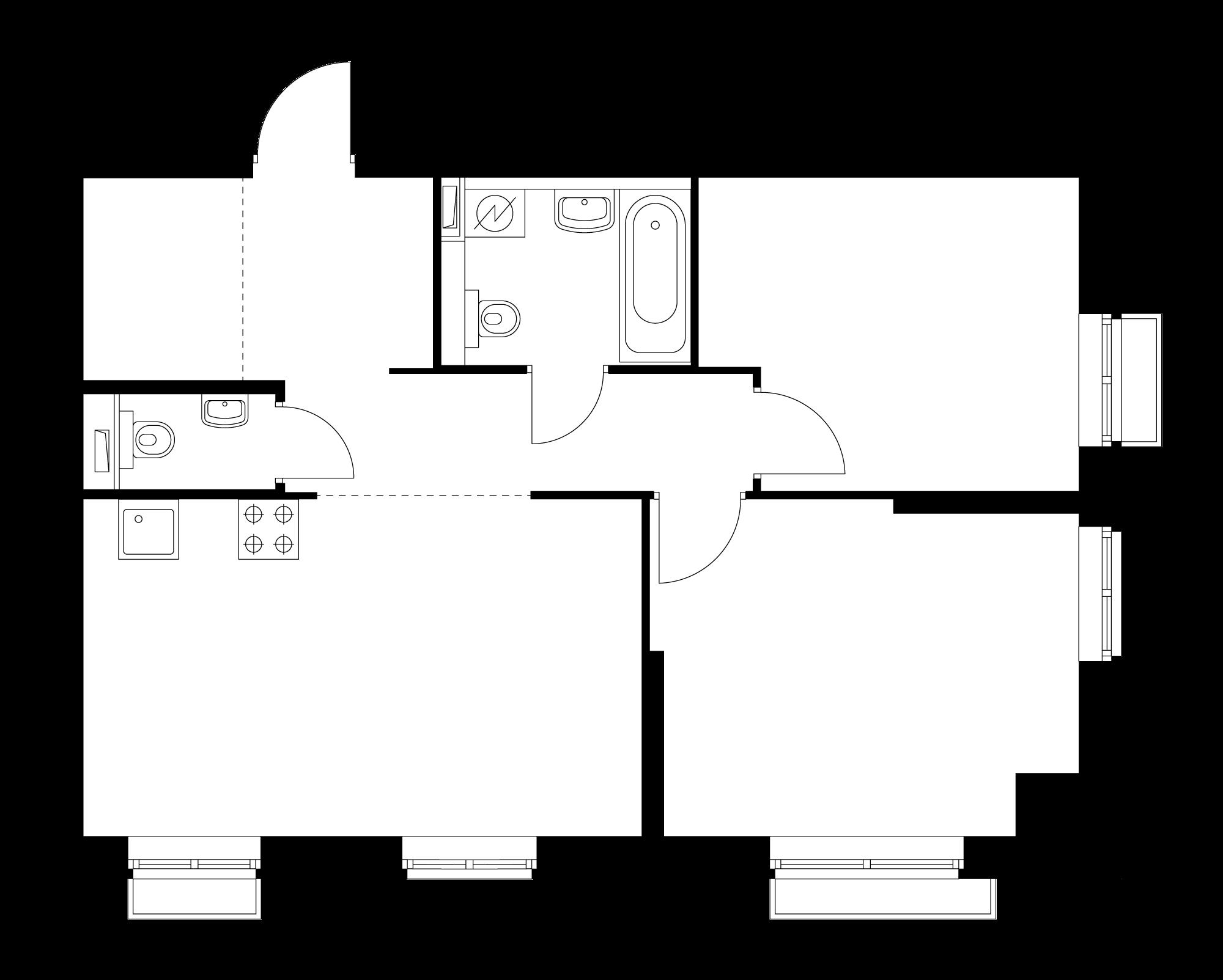 2-комнатная 59.3 м²
