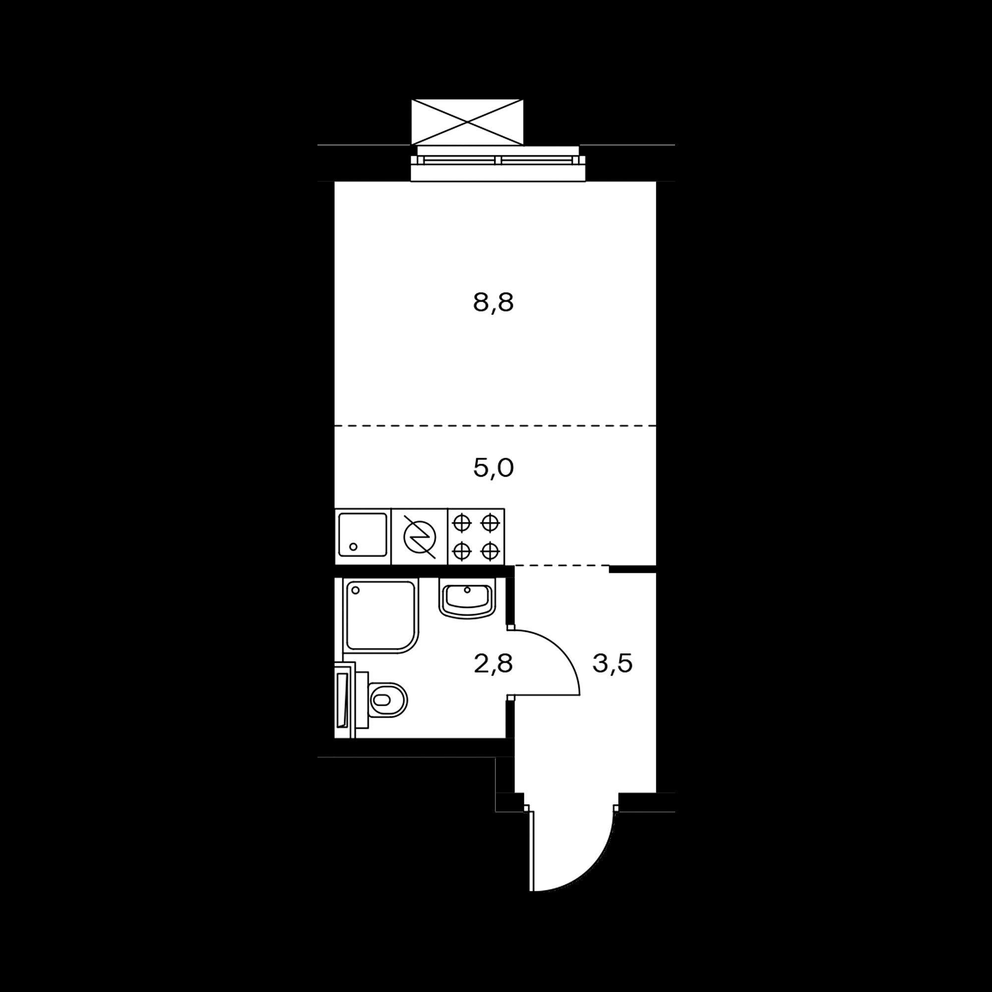 Студия 20.2  м²