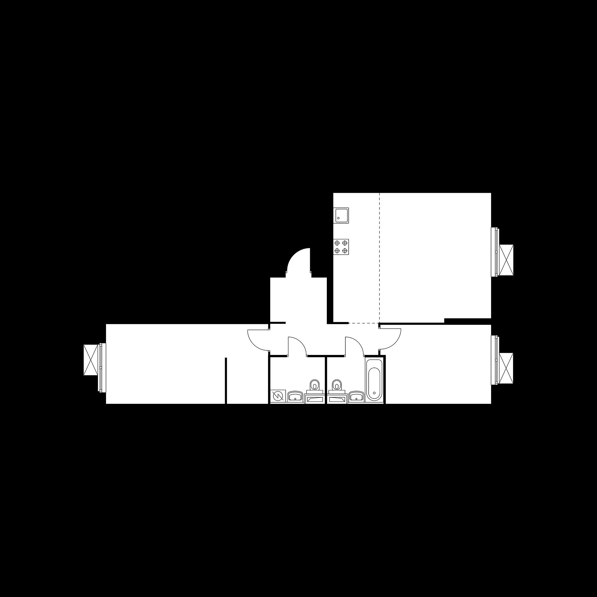 3-комнатная 79.05  м²