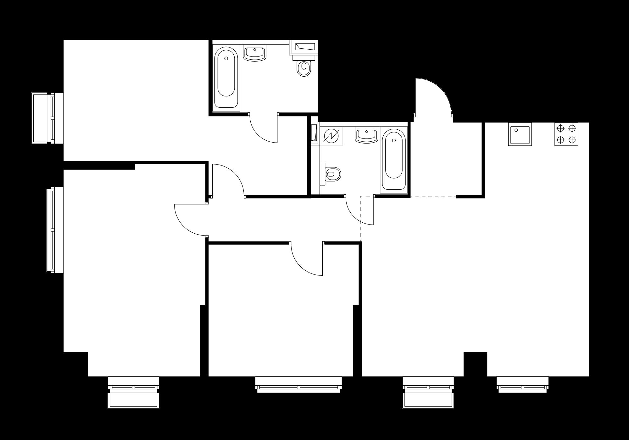 3-комнатная 95.9  м²