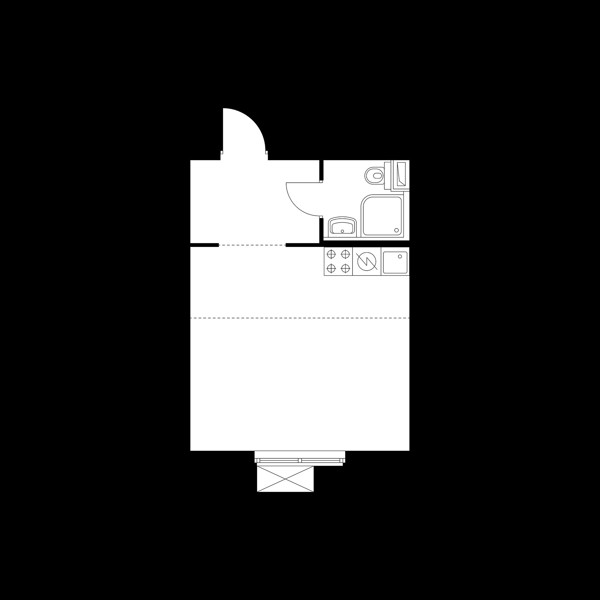 Студия 27.23  м²