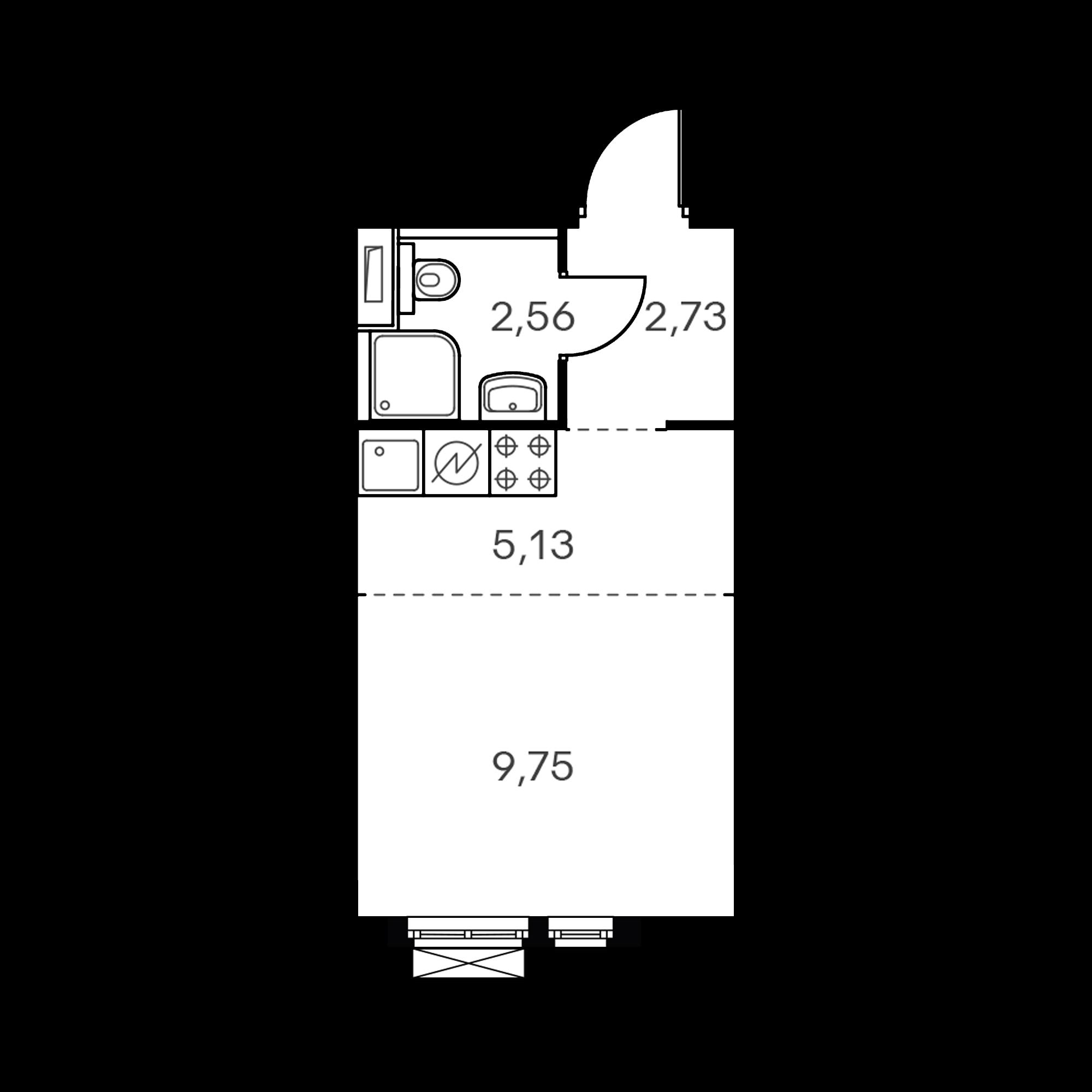 Студия 20.39  м²