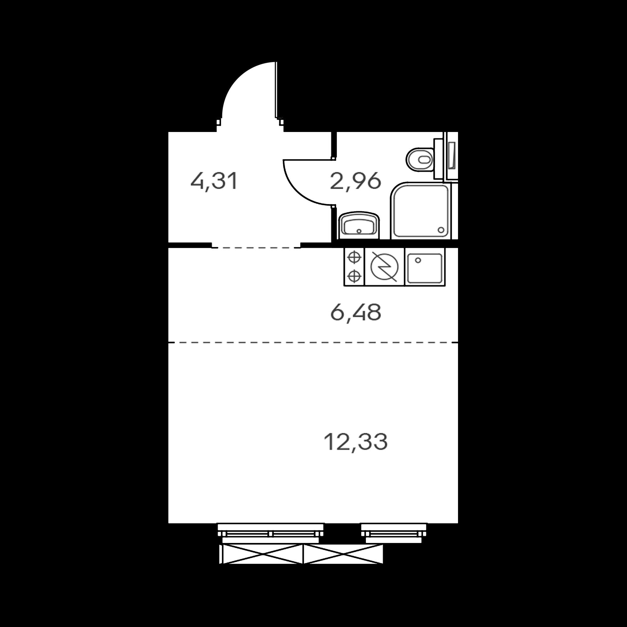 Студия 26.08  м²