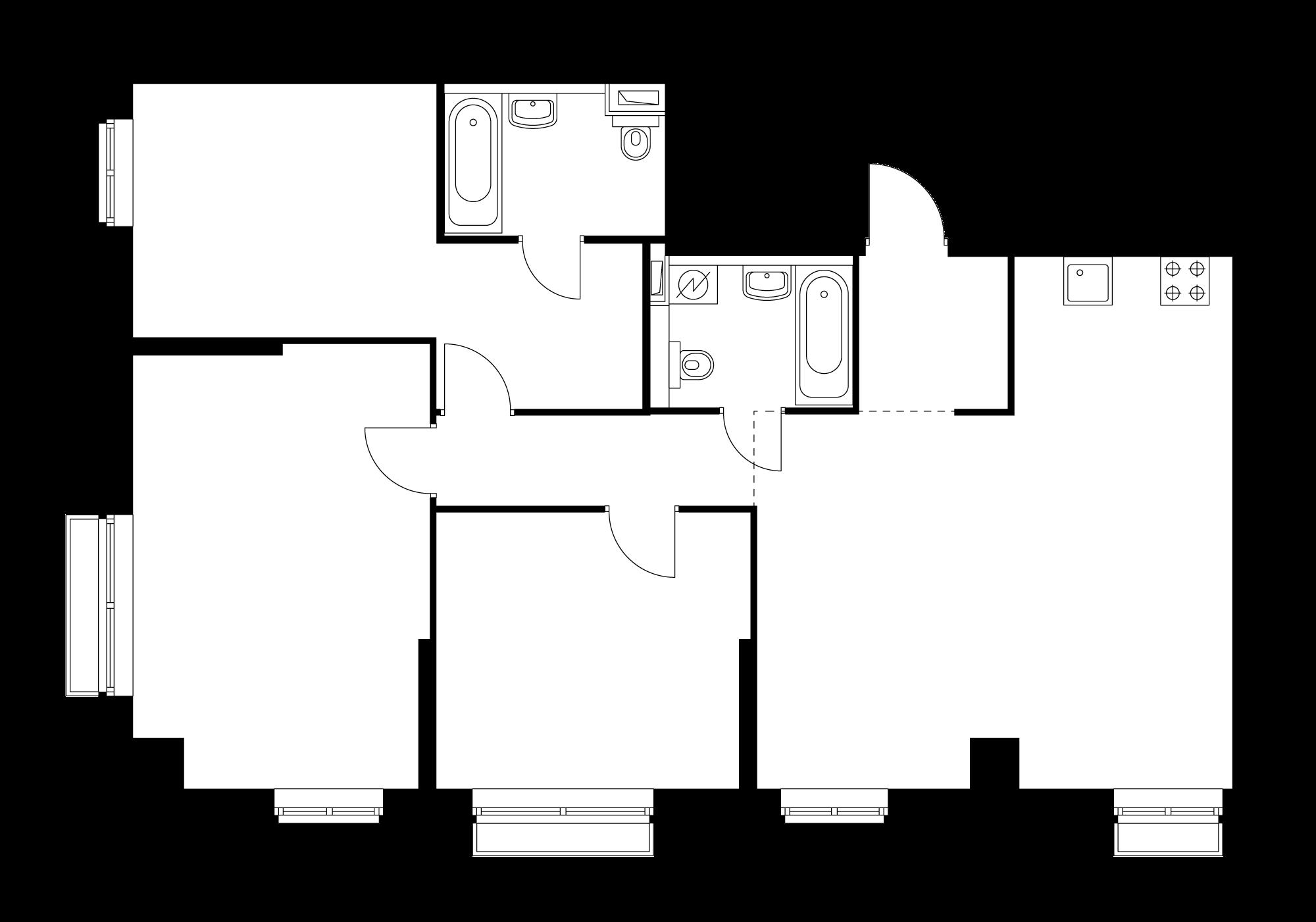 3-комнатная 94.6  м²